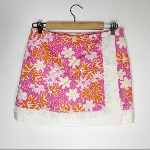 LILLY PULITZER floral wrap skort skirt